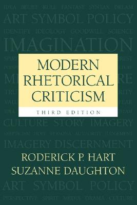 Modern Rhetorical Criticism By Hart, Roderick P./ Bartlett, Richard D.
